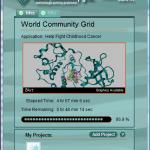 BOINCアプリケーションの画面
