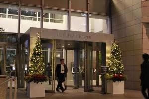 Googleがあるセルリアンタワーのクリスマスムード漂う入り口(オフィス側)